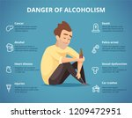 alcoholism infographic. alcohol ... | Shutterstock .eps vector #1209472951