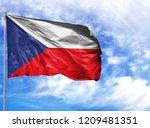 national flag of czech republic ...   Shutterstock . vector #1209481351