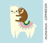 vector illustration of cute... | Shutterstock .eps vector #1209485104