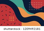 abstract pop art line and dots... | Shutterstock .eps vector #1209492181