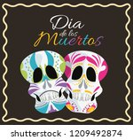 day of the dead celebration | Shutterstock .eps vector #1209492874