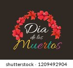 day of the dead celebration | Shutterstock .eps vector #1209492904