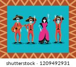 day of the dead celebration | Shutterstock .eps vector #1209492931