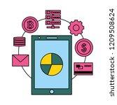 fin tech business   Shutterstock .eps vector #1209508624