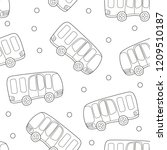buses  hand drawn backdrop.... | Shutterstock .eps vector #1209510187