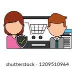 fin tech business   Shutterstock .eps vector #1209510964