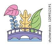 landscape bridge plants natural | Shutterstock .eps vector #1209512191