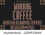vintage font typeface vector... | Shutterstock .eps vector #1209513964