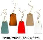 set of price and sale tags for... | Shutterstock .eps vector #1209524194