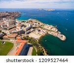 aerial view of marseille pier   ... | Shutterstock . vector #1209527464