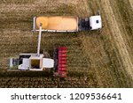 harvesting corn view from above.... | Shutterstock . vector #1209536641