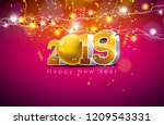 2019 happy new year... | Shutterstock .eps vector #1209543331