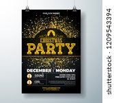 merry christmas party poster... | Shutterstock .eps vector #1209543394