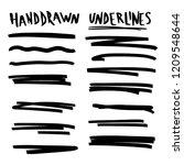 handmade collection set of... | Shutterstock .eps vector #1209548644