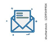 email icon design vector | Shutterstock .eps vector #1209549904