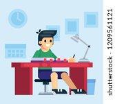 student  school or preschool... | Shutterstock .eps vector #1209561121
