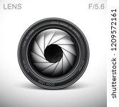 set camera lens object glass...   Shutterstock .eps vector #1209572161