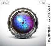 set camera lens object glass...   Shutterstock .eps vector #1209572164