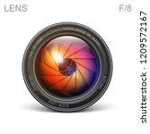 set camera lens object glass...   Shutterstock .eps vector #1209572167