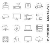 simple set of computer...   Shutterstock .eps vector #1209581497