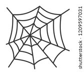 spider web thin line icon.... | Shutterstock .eps vector #1209597031