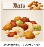 nuts. cartoon icon. series of... | Shutterstock . vector #1209597784