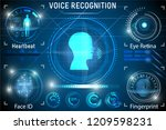 voice recognition. biometric... | Shutterstock .eps vector #1209598231