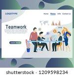 meeting business people. web... | Shutterstock .eps vector #1209598234