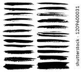 set of brush stroke  black ink... | Shutterstock .eps vector #1209600031