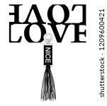slogan love or nice tassel for... | Shutterstock .eps vector #1209600421