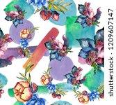 watercolor colorful bouquet...   Shutterstock . vector #1209607147
