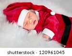 Santa Sleeping Newborn