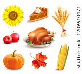 thanksgiving day design... | Shutterstock .eps vector #1209610471