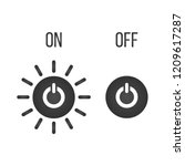 icon button on off  indicator....