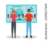 virtual reality technology | Shutterstock .eps vector #1209617644