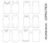 vector template for women's... | Shutterstock .eps vector #1209617824
