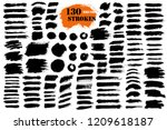 brush strokes. vector... | Shutterstock .eps vector #1209618187
