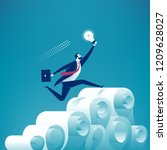 the inventor overcoming the... | Shutterstock .eps vector #1209628027