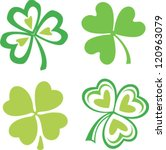 set of isolated green irish... | Shutterstock .eps vector #120963079
