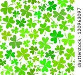 light green seamless clover... | Shutterstock .eps vector #120963097