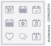 outline 9 month icon set....   Shutterstock .eps vector #1209633514