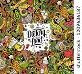 cartoon vector doodles diet...   Shutterstock .eps vector #1209636187