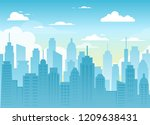 vector illustration of city... | Shutterstock .eps vector #1209638431