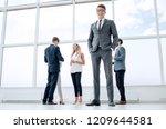 bottom view. businessman... | Shutterstock . vector #1209644581