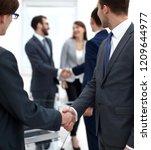 handshake of business partners...   Shutterstock . vector #1209644977