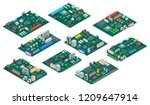 circuit board isometric.... | Shutterstock .eps vector #1209647914