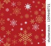 Stock vector seamless christmas gift wrapping paper pattern texture wallpaper 1209648721