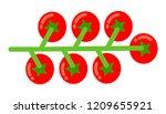 bunch of cherry tomatoes flat... | Shutterstock .eps vector #1209655921