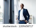 handsome cheerful african... | Shutterstock . vector #1209658717