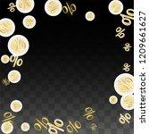 luxury vector gold percentage... | Shutterstock .eps vector #1209661627